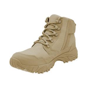 "Zip up work boots 6"" tan inner toe with zipper altai Gear"